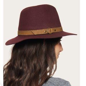 Frye Harness Wool Felt Tall Crown Fedora Hat NWT